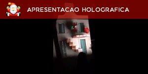 Apresentação holográfica super legal em comemoração do Natal!!!