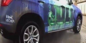 Carro com tema de personagem herói verde, você vai se surpreender!