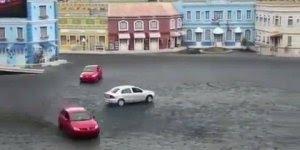 Carros brincam de dançar em apresentação, tem que ser um bom motorista hein!