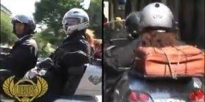 Moto táxi na França é assim, bem que o Brasil poderia adotar esse tratamento!