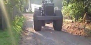 O maior triciclo do mundo, se encontrar com um desse na rua dá até medo!
