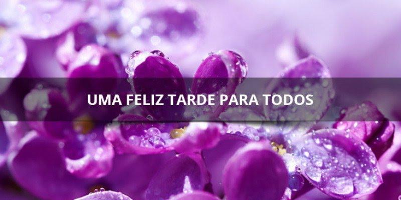Boa tarde com flores e corações para você compartilhar no seu Facebook!