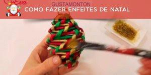Como fazer enfeites para sua árvore de Natal utilizando jornal!