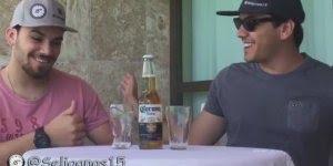 Cerveja aparece do nada encima da mesa, com se liga nos 15!