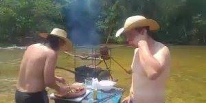 Esse vídeo é para galera que adora uma carninha assada a beira rio!!!