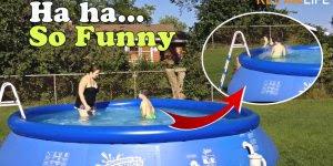 Cenas engraçadas com crianças e piscinas, para dar muitas risadas!