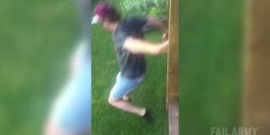 Olha o que esse amigo fez ao pular de uma varanda, assista até o final!