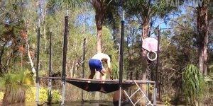 Pulos mais desastrosos em trampolins, impossível não dar risadas hahaha!