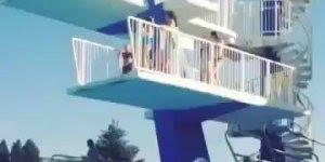 Quando você pensa que consegue pular de um trampolim, só que não!!!