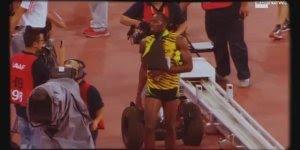 Usain Bolt é derrubado por cinegrafista, e diz sem ressentimento!