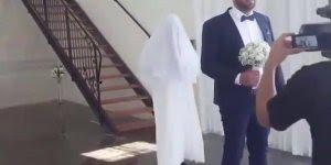 Amigo do noivo finge ser a noiva e o resultado fica muito engraçado hahaha!
