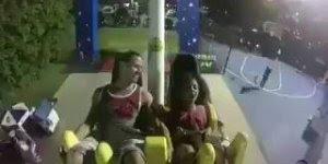 Criança desmaia de medo em brinquedo de parque de diversão!!!