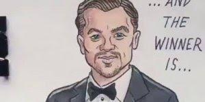 Sátira do prêmio do ator Leonardo Dicaprio ganhando o óscar!
