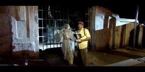 Pegadinha do fantasma de Halloween, para matar alguém de susto kkk!