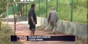 Pegadinha do folgado que joga terra em pedestre, o que faria se fosse você?