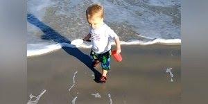 Bebês brincando na praia, eles adoram esses momentos, confira!