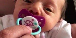 Olha o que esse bebê faz quando tiram a chupeta dele, que engraçado hahaha!