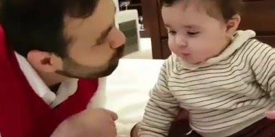 Quando deixam o papai dar o chocolate do bebê, coitadinho dele papai!