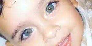 Criança dos olhos da cor do céu, que coisa mais linda!!!