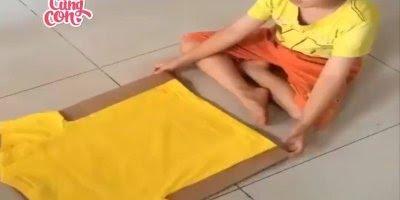 Jeito fácil e divertido para ensinar seu filho a dobrar suas roupas!