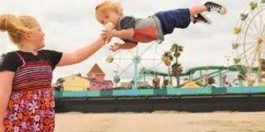 Pai faz montagem com foto de filho em cenários fantásticos!