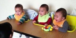 Uma criança alegra muita gente, três crianças alegram muito mais!