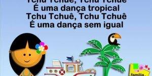 Video com canção infantil Tchu Tchuê, compartilhe no Facebook!