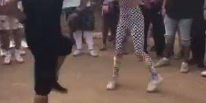 Casal dançando musica eletrônica e tira gritos da galera!!!