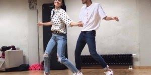 Casal dançando musica Stand by me de Ben e King, olha só que coreografia!!!
