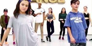 Garoto e garota dançando Hip Hop, olha só que legal este vídeo!!!