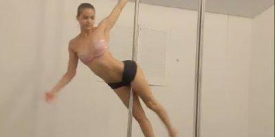 Pole dance de um jeito que você nunca viu, veja a leveza desta bailarina!!!