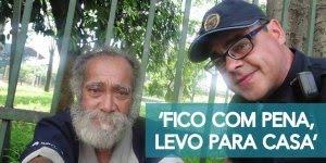 Reportagem sobre um guarda municipal que ajuda moradores de rua voltar para casa