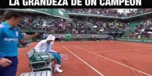 Veja o que o tenista Novak Djokovic fez com garoto que segura seu guarda-chuva!