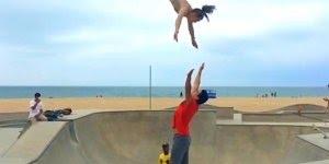 Esportistas amadores desafiando força da gravidade, sensacional!