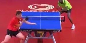 Quando você pensa que sabe jogar Tênis de mesa, vem esses dois e arrasam!