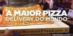 A maior pizza delivery do mundo, compartilhe e marque os amigos!