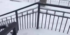 Acúmulo de neve em Sochi, na Rússia, que impressionante!
