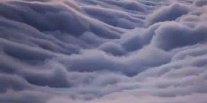 Como é por cima das nuvens? Veja o video e descubra, muito lindo!