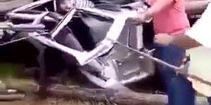 Homem nasce outra vez após acidente de caminhão, Deus no comando!