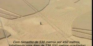Impressionante circulo em plantações com mais de 500 metros, confira!!!