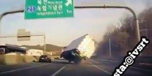 Impressionante vídeo com um quase acidente de caminhão, confira!!!