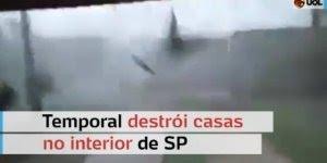 Temporal destrói casas em Panorama, oeste de São Paulo, confira!