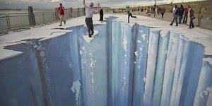 Veja que incrível estas pinturas 3D feitas no chão de ruas em meio a cidade!!!
