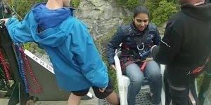 Vídeo com queda em Bungee Jumping em Nova Zelândia, confira!!!