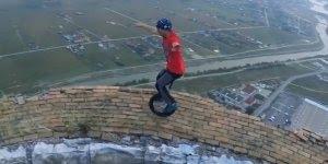 Vídeo impressionante com pessoas praticando esporte em lugares altíssimos!!!