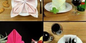 6 Maneiras de dobrar guardanapos, um mais legal que o outro!