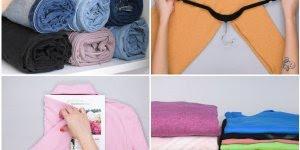 Aprenda a dobrar roupas e organizar seu guarda roupa, muito legal!