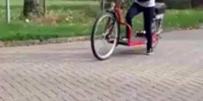 Bicicleta que você caminha, ao invés de pedalar, olha só que interessante!!!