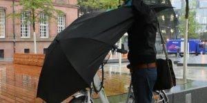 Guarda-chuva para quem usa bicicletas, da só uma olhada nesta ideia!!!