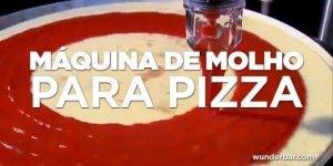 Maquina para colocar molho em pizzas, muito interessante, confira!!!